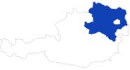 Karte der Bademöglichkeiten in Niederösterreich
