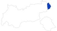 Karte der Bademöglichkeiten im Pillerseetal