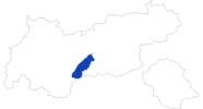 Karte der Bademöglichkeiten in Stubai
