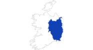 Karte der Bademöglichkeiten in Leinster