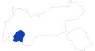 Karte der Bademöglichkeiten im Tiroler Oberland