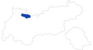 Karte der Bademöglichkeiten in der Tiroler Zugspitz Arena
