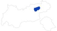 Karte der Bademöglichkeiten in Wildschönau
