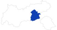 Karte der Bademöglichkeiten im Zillertal