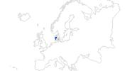 Karte der Bademöglichkeiten in Dänemark