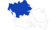 Karte der Bademöglichkeiten in Südjütland