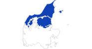 Karte der Bademöglichkeiten in Nordjütland