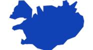 Karte der Bademöglichkeiten in Islands Regionen