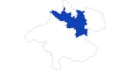 Karte der Bademöglichkeiten in Donau Oberösterreich