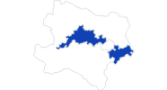 map of all swimming spots in Donau Lower Austria