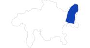 Karte der Bademöglichkeiten in Scuol Samnaun Val Müstair