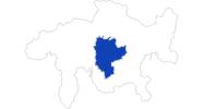 Karte der Bademöglichkeiten in Savognin Bivio Albula