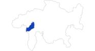 Karte der Bademöglichkeiten in Vals