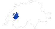 Karte der Bademöglichkeiten in der Fribourg Region