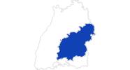 Karte der Bademöglichkeiten Schwäbische Alb