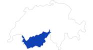 Karte der Bademöglichkeiten im Wallis