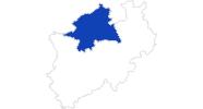 Karte der Bademöglichkeiten in Münsterland