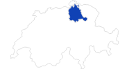 map of all swimming spots in the Zurich region