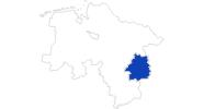 Karte der Bademöglichkeiten im Braunschweiger Land