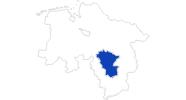 Karte der Bademöglichkeiten in der Region Hannover