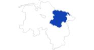 Karte der Bademöglichkeiten in der Lüneburger Heide