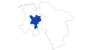 Karte der Bademöglichkeiten im Oldenburger Münsterland