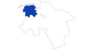 Karte der Bademöglichkeiten in Ostfriesland