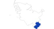 Karte der Bademöglichkeiten im Herzogtum Lauenburg