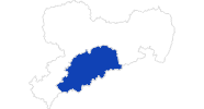 Karte der Badewetter im Erzgebirge