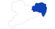 Karte der Bademöglichkeiten in Oberlausitz