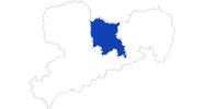 Karte der Bademöglichkeiten Sächsisches Elbland