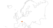 map of all tourist attractions in Switzerland