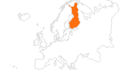 map of all tourist attractions in Finland