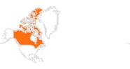 Karte der Ausflugsziele in Kanada