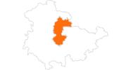 Karte der Ausflugsziele Erfurt und Umgebung