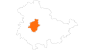 map of all tourist attractions Gotha und Umgebung