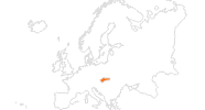 Karte der Ausflugsziele in der Slowakei