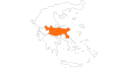map of all tourist attractions in Central Greece
