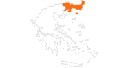 map of all tourist attractions in East Macedonia and Thrace