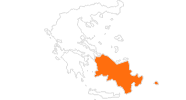map of all tourist attractions in the South Aegean