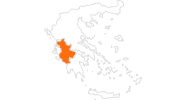 map of all tourist attractions in West Greece