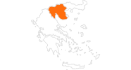 map of all tourist attractions in Central Macedonia