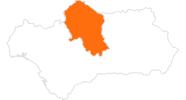 Karte der Ausflugsziele in Córdoba