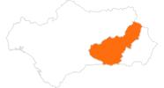 Karte der Ausflugsziele in Granada