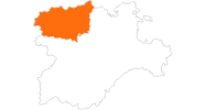 map of all tourist attractions in León