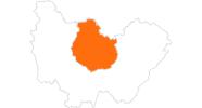 Karte der Ausflugsziele in Côte-d'Or