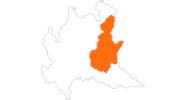map of all tourist attractions in Brescia