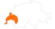 Karte der Ausflugsziele im Genferseegebiet