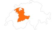 Karte der Ausflugsziele im Berner Oberland