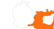 Karte der Ausflugsziele in St. Gallen